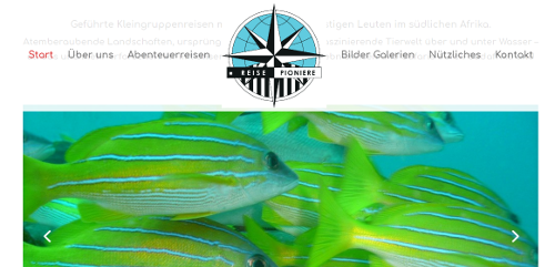 Web Design example Reise Pioniere Germany